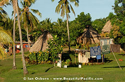 Traditional bures at Vuake Village on Matacawalevu Island