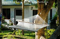 Hammock outside the Standard Cottage