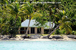 The Superior Cottage as seen from the lagoon at Long Beach Resort